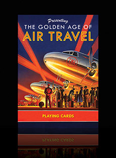 Golden Age of Air Travel playing cards