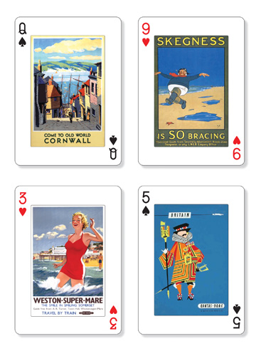 Come to Britain playing cards