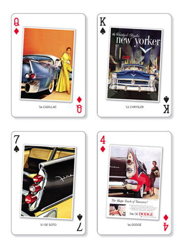American Dream Cars playing cards